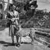 1954. Donna con ghepardo - fotografia in tiratura limitata