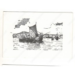 gouaches-peschereccio-nel-golfo-di-napoli