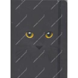 notebook-nero-gatto-fogli-bianchi