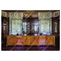 la-biblioteca-palatina-prima-sala-cartolina-reggia-di-caserta-cm-17x12